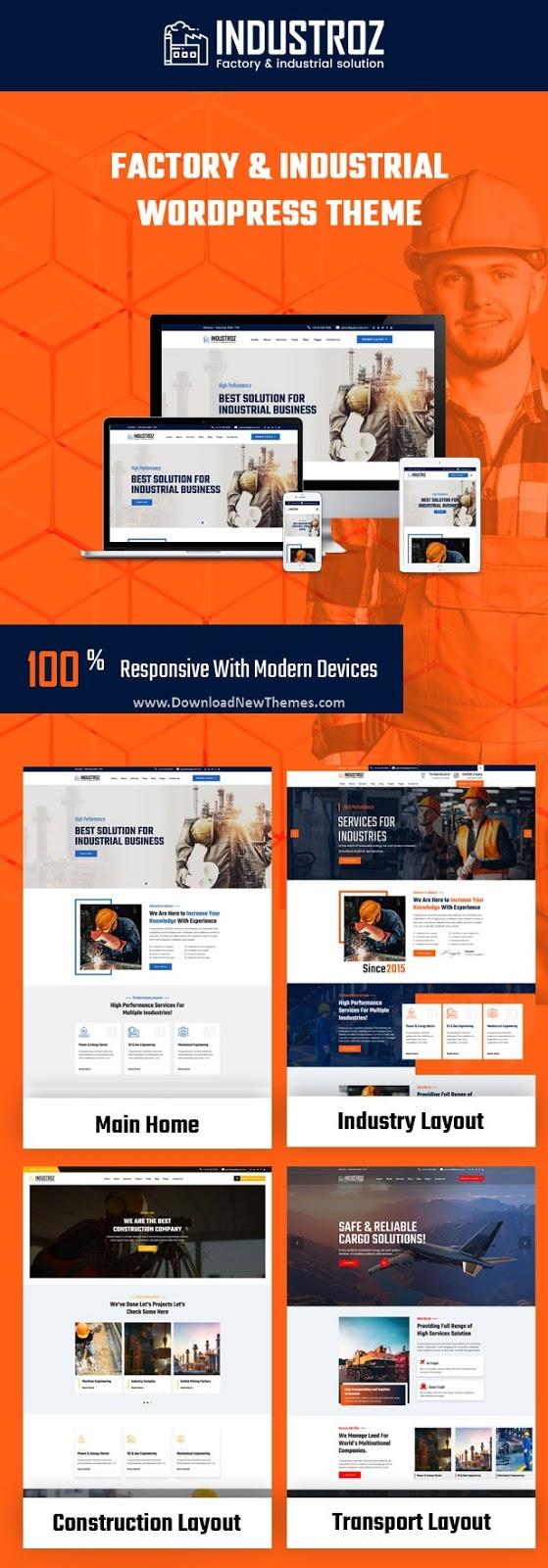 Best Factory & Industrial Premium WordPress Theme