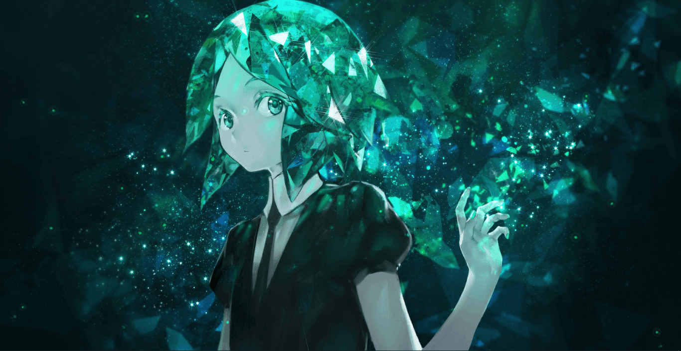 Jewelry Country & Leaves & Phosphofilite [Wallpaper Engine Anime]