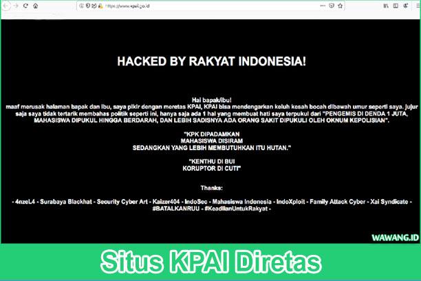 Situs KPAI diretas terdapat footnote surabaya blackhat