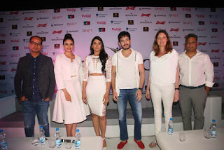 Akhil, Regina Cassandra and Rakul Preet Singh at Sensation Dance Event Curtain Raiser Event Stills