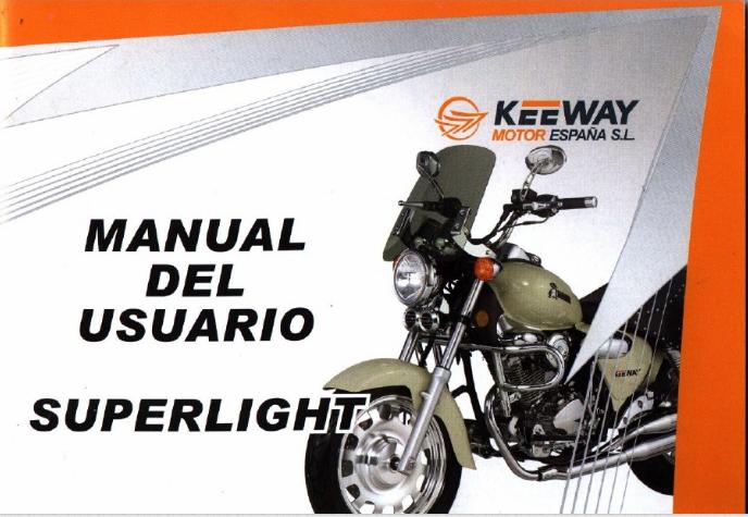 Manual Usuario Keeway Superlight 125 Keeway Rkv border=