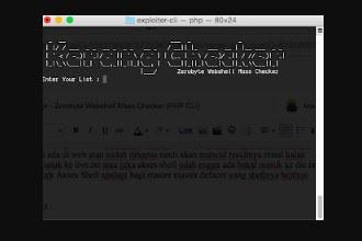 Tools Scan Webshell Zerobyte Webshell Mass Checker (PHP CLI) by Kerang Checker