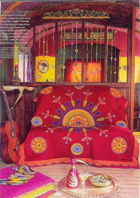 Gypsy Decor Style Tips And Pics: Liz Blair's Art, Design, And Fashion: Gypsy Caravan