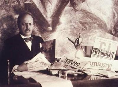 ο Ιταλός ποιητής και εκδότης Φίλιπο Τομάσο Μαρινέτι (1876-1944)