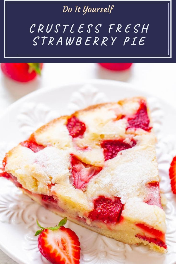 FAST, super EASY, no-mixer dessert that's perfect for summer entertaining, picnics, or potlucks!! Somewhere in between pie, cake, and blondies is what you get with this FABULOUS recipe! Take advantage of those FRESH strawberries!!