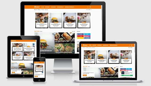 Foodify Elegant Food & Restaurant Blogger Template Premium Free Download