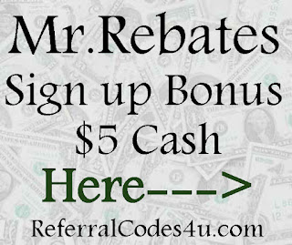 Get a $5 for referring your friends to Mr.Rebates! See more Refer a Friend Sites and Apps here!