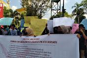 Pemuda dan Mahasiswa Demonstrasi Menolak Deklarasi KAMI Di NTB
