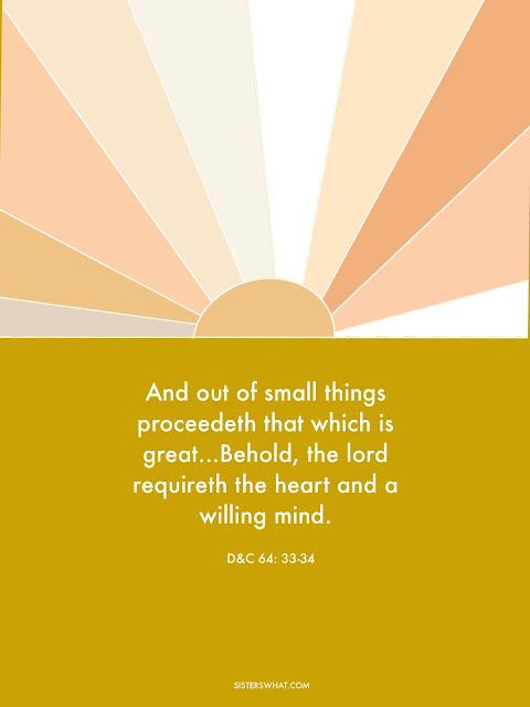 out of small things proceedeth d&c 64:33