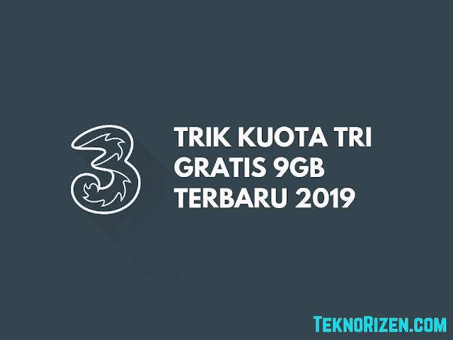 Cara Mendapatkan Kuota Gratis 3 (TRI) 9GB Terbaru