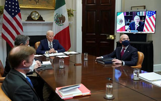 AMLO y Biden sostienen su primera reunión virtual