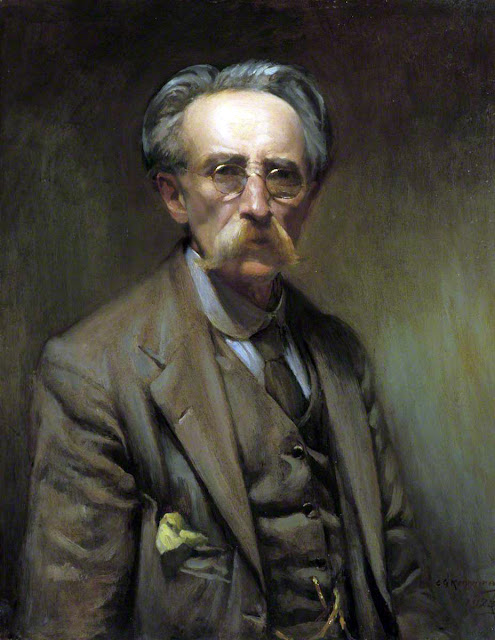 Charles Gray Kennaway,  Self Portrait, Portraits of Painters, Fine arts, Portraits of painters blog, Paintings of Charles Gray, Painter Charles Gray