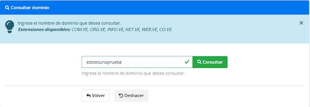 Consultar dominio en Nic.ve