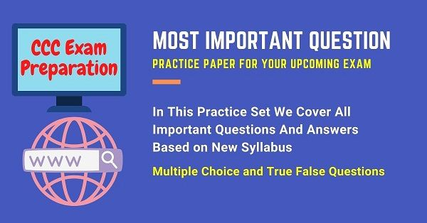 CCC Exam Questions and Answers in Hindi and English | CCC Exam Preparation Important Questions