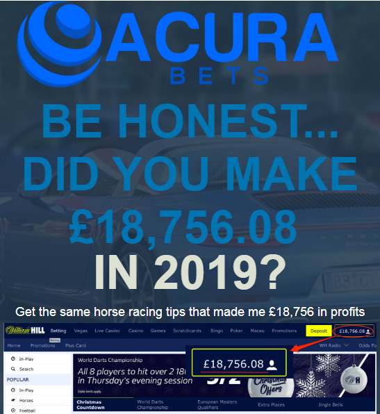 Acura Bets review, Acura Bets system, Acura Bets Julian Bradshaw, Nexus Betting Network Horse Racing Tips,