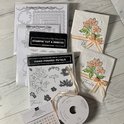 Craft items used to make handmade greeting cards