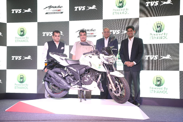 TVS Apache Ethanol Motorcycle India