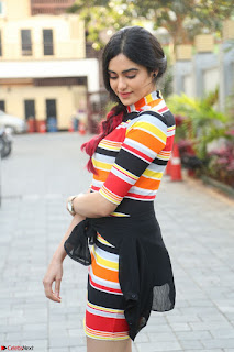 Adha Sharma in a Cute Colorful Jumpsuit Styled By Manasi Aggarwal Promoting movie Commando 2 (37).JPG