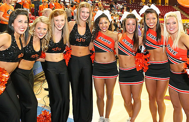 Oklahoma State Cheerleaders For My Belly Button Fans