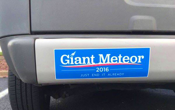 2016 election bumper sticker
