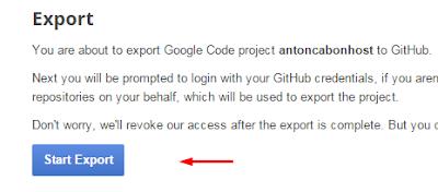 Start Export To Github