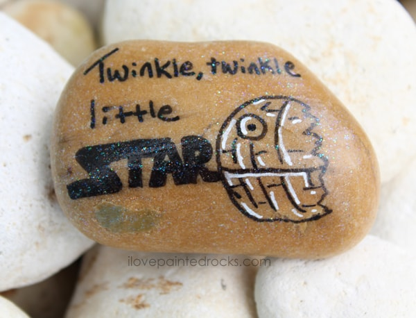how to make a death star rock painting craft
