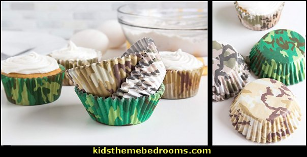 Camouflage Bake Cup Set