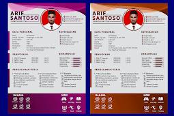 Contoh CV Lamaran Kerja Yang Baik dan Kreatif - Design #31