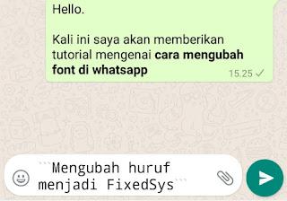 cara mengganti font di whatsapp