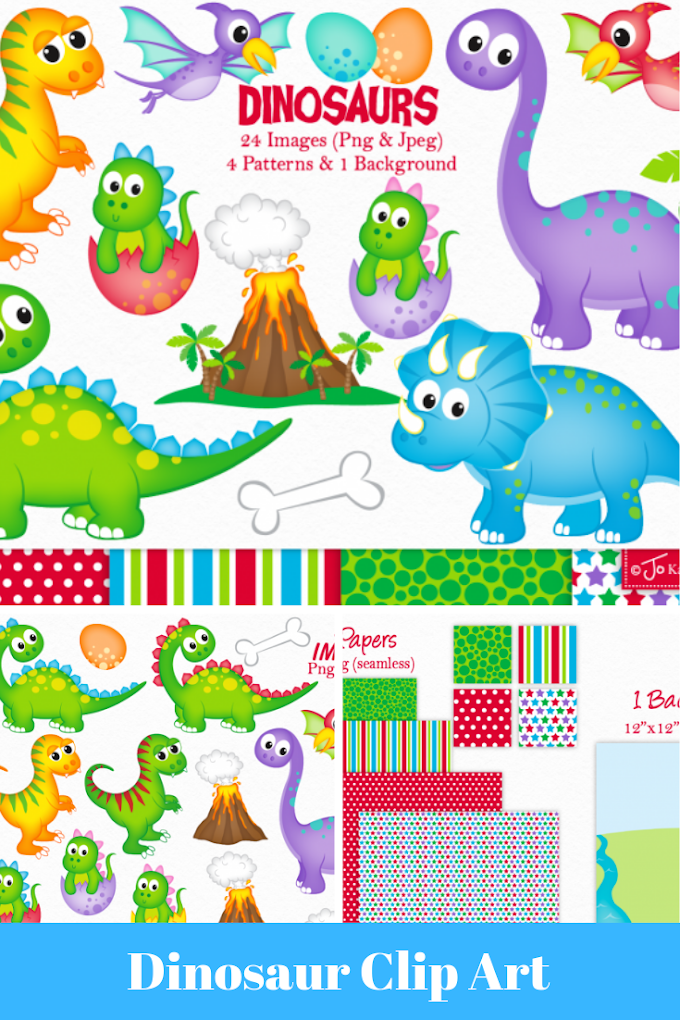 Cutest Dinosaur Clip Art