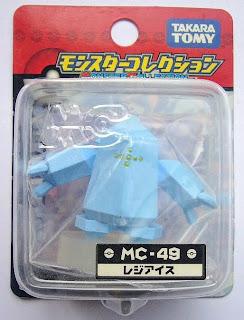 Regice figure Takara Tomy Monster Collection MC series