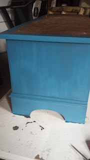 Behr Bermudan Blue Cedar Chest