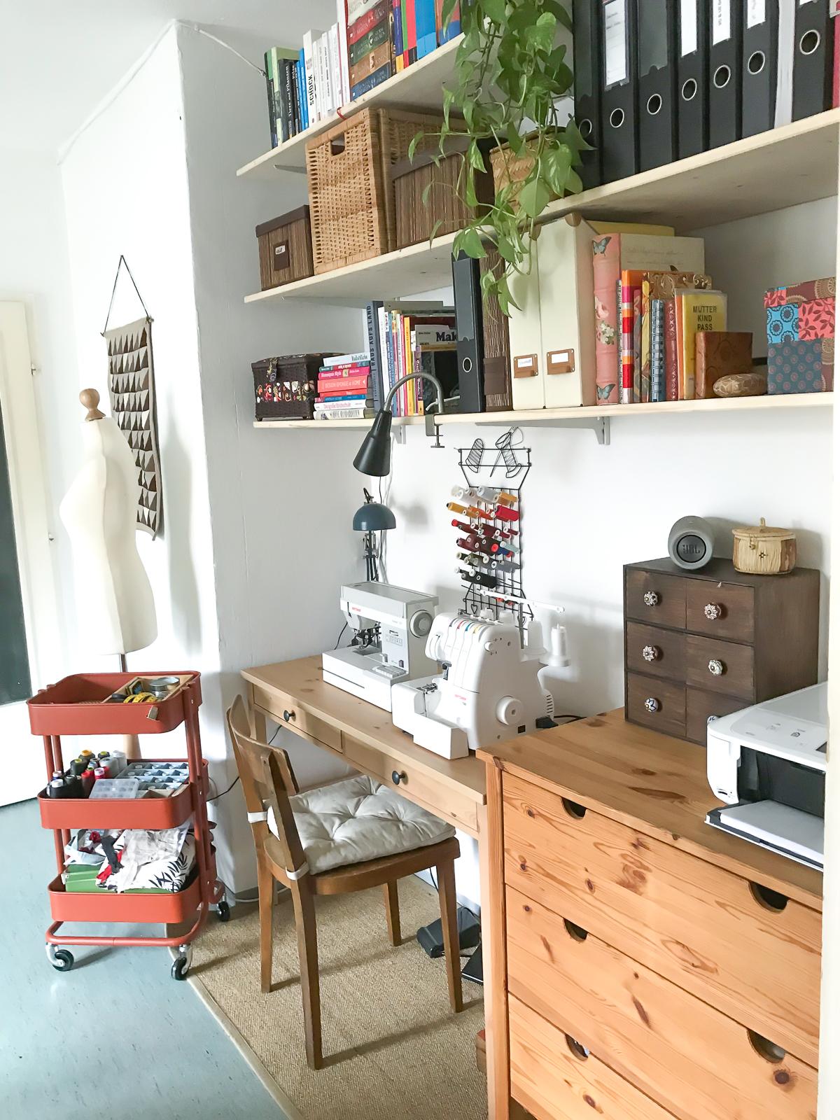 Nähecke einrichten und organisieren - Green Bird - DIY Mode, Deko ...