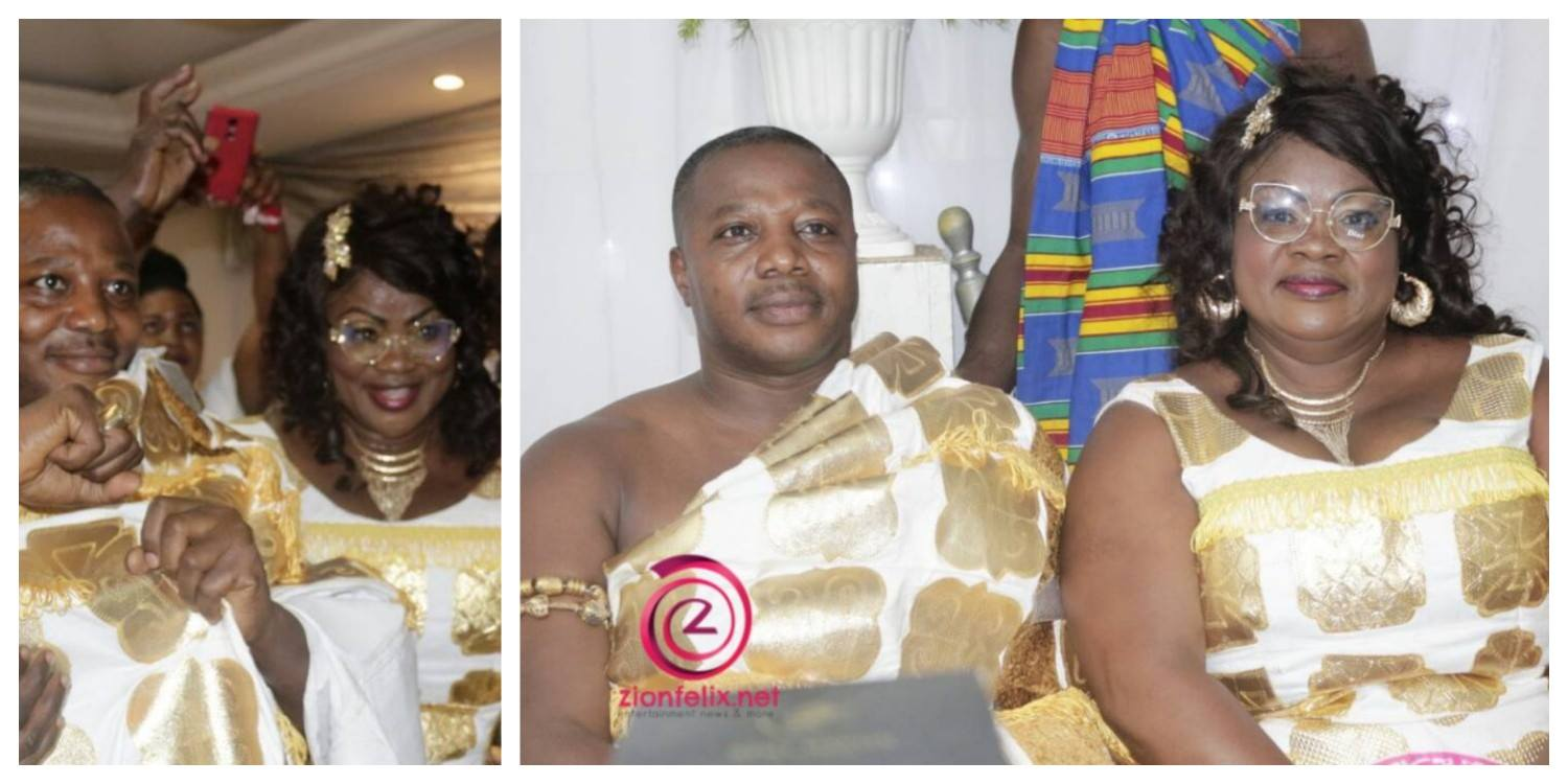 Checkout PHOTOS of Mercy Asiedu & Husband Displaying Royalty At Vivian Jill Lawrence's Son's Naming Ceremony