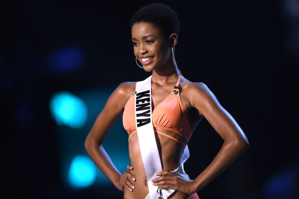 Wabaiya Kariuki of Kenya competes in the swimsuit competition during the 2018 Miss Universe pageant in Bangkok on December 13, 2018. (Photo by Lillian SUWANRUMPHA / AFP) (Photo credit should read LILLIAN SUWANRUMPHA/AFP via Getty Images)