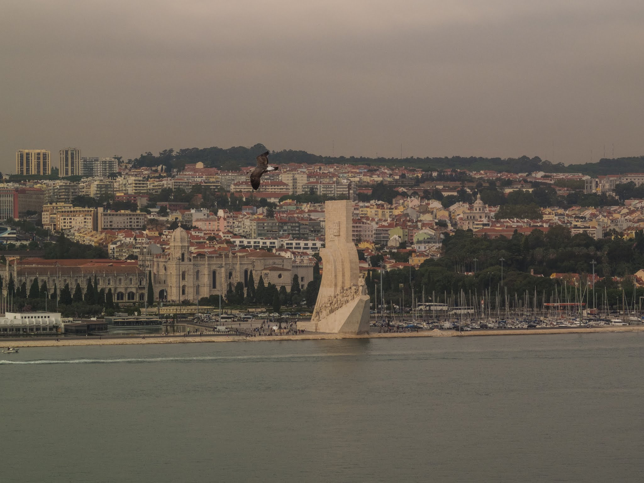 Padrão dos Descobrimentos - Monument of the Discoveries on the northern bank of the Tagus River estuary.