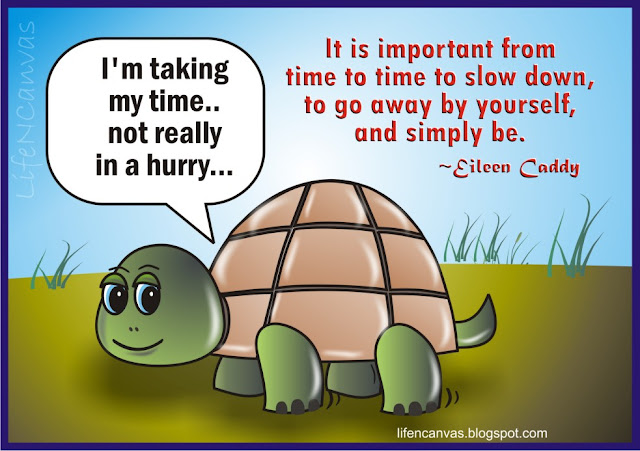 slow down cartoon