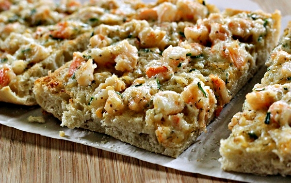 Cheesy Shrimp Ciabatta
