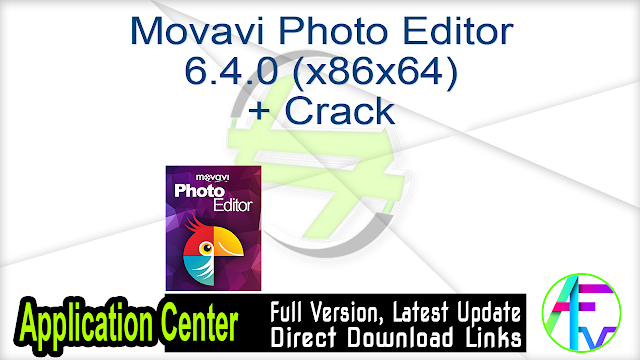 Movavi Photo Editor 5.1.0 + Crack