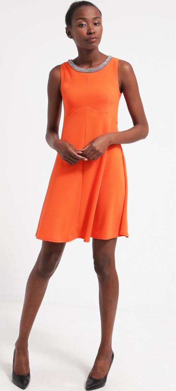 Robe courte de soirée orange sans manches Dorothy Perkins