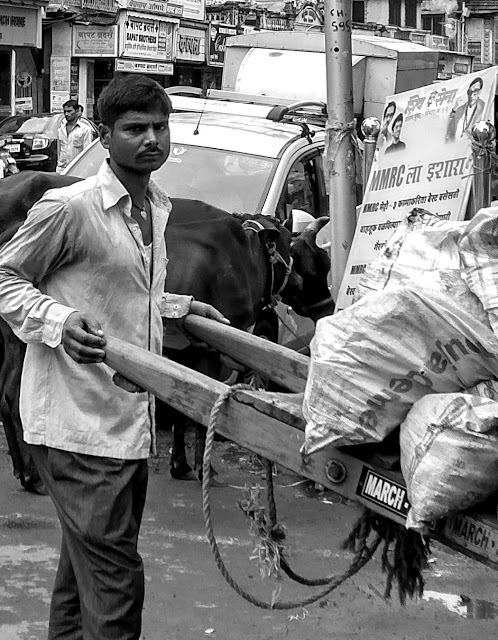 hand cart, transportation, mohammed ali road, mumbai, incredible india, monochrome monday, black and white weekend, street, street photography,