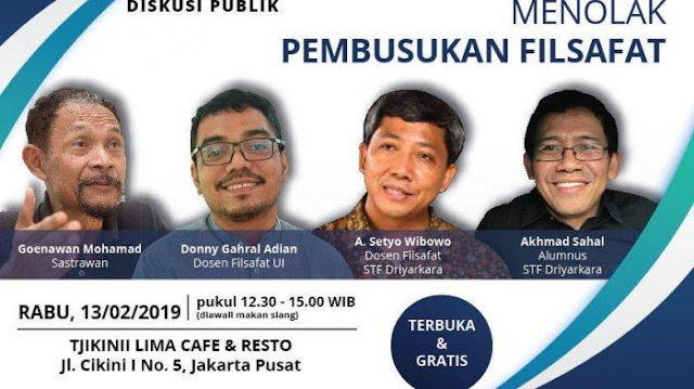 Andi Arief Sebut Acara yang Diisi Para Ahli Filsafat Ini sebagai Upaya 'Pembunuhan' Rocky Gerung