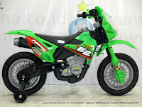 Motor Mainan Aki DoesToys DT413 Hero 13 Motocross Green