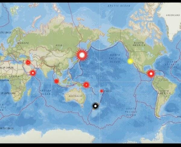 URGENTE: ponen en advertencia varias partes por posibles sismos fuertes en los próximos días.