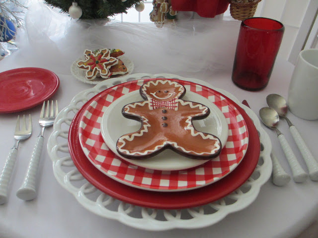 Table For One Gingerbread Cookies And Santa Table