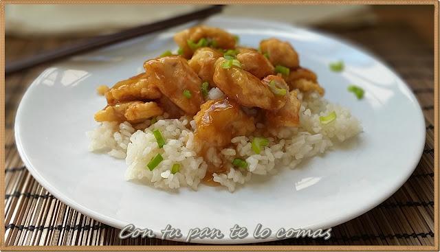 Pollo chino a la miel