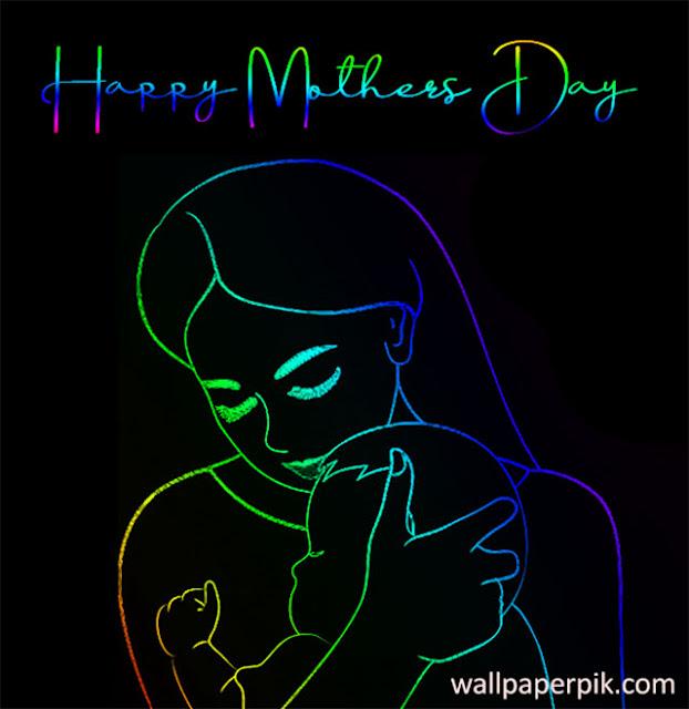 neon light mothers day images wallpaperpik