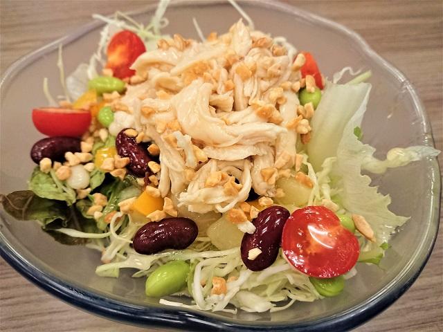 蘭々の湯 8品目のバランス栄養素サラダ