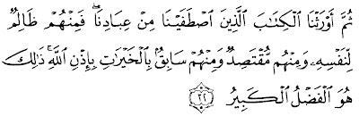 QS Al-Fathir:32 Pewaris Al-Quran