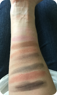 MAybelline the blushed nudes swatch